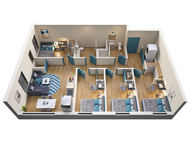 4/2 Type 1 Floor plan layout