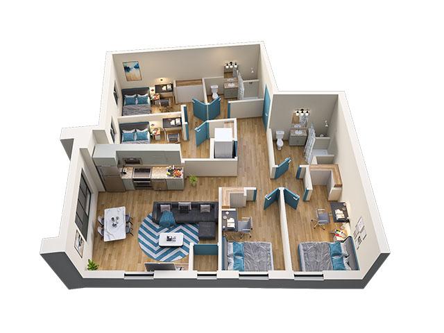 4/2 Type 2 Floor plan layout