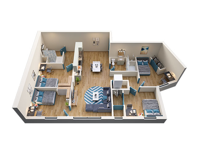 4/2 Type 3 Floor plan layout