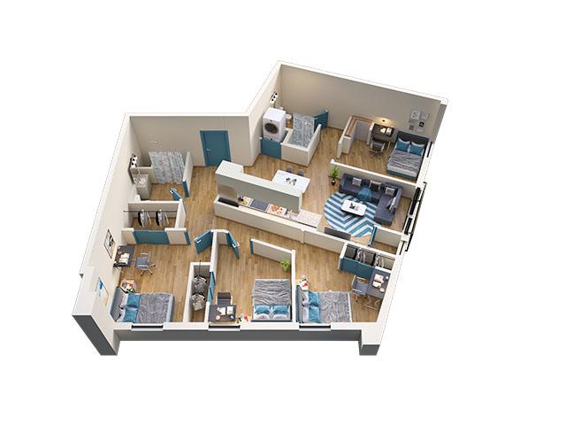 4/2 Type 4 Floor plan layout