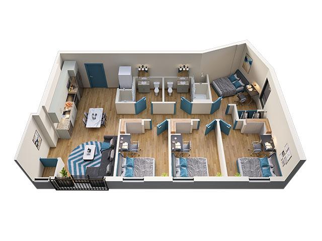 4/2 Type 6 Floor plan layout