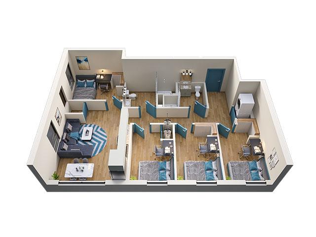 4/2 Type 7 Floor plan layout
