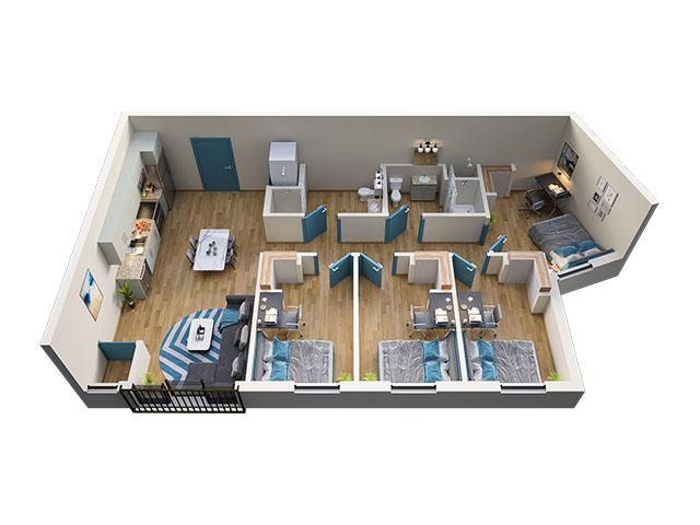 4/2 Type 8A Floor plan layout