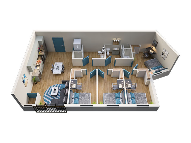 4/2 Type 8 Floor plan layout