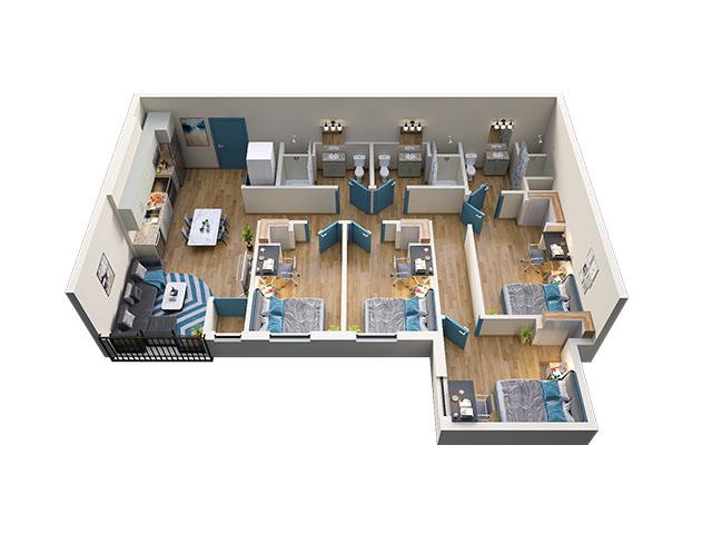 4/3 Type 1 Floor plan layout