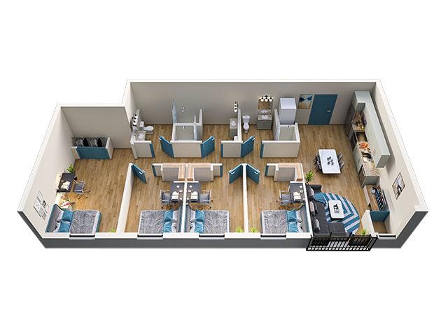 4/3 Type 2 Floor plan layout