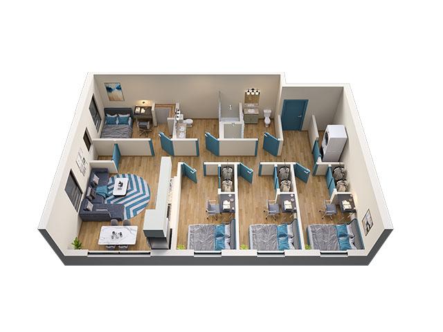 4/2 Type 5 Floor plan layout