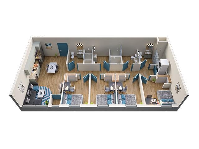 4/4 Type 2 Floor plan layout