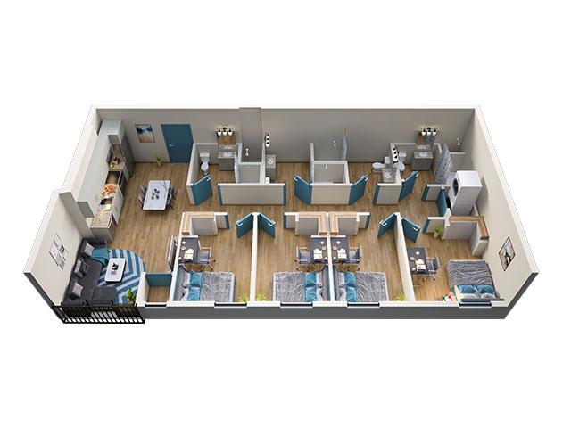 4/4 Type 3 Floor plan layout