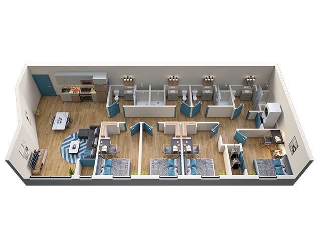 4/4 Type 4 Floor plan layout