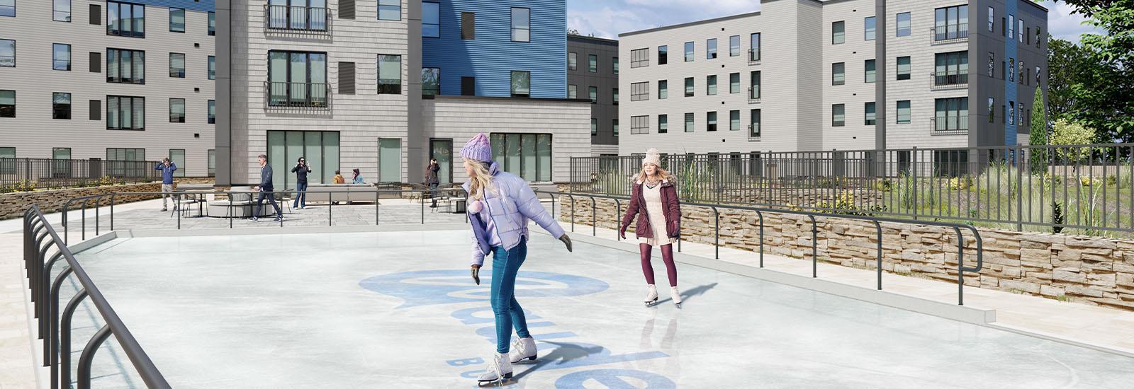 Ice Rink At Auden Buffalo
