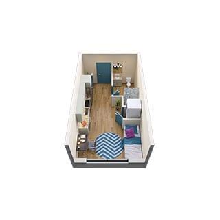 1-Bed Floorplans