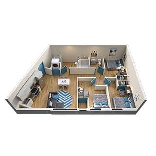 3-Bed Floorplans