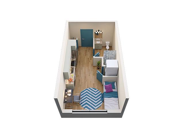 Studio Floor plan layout